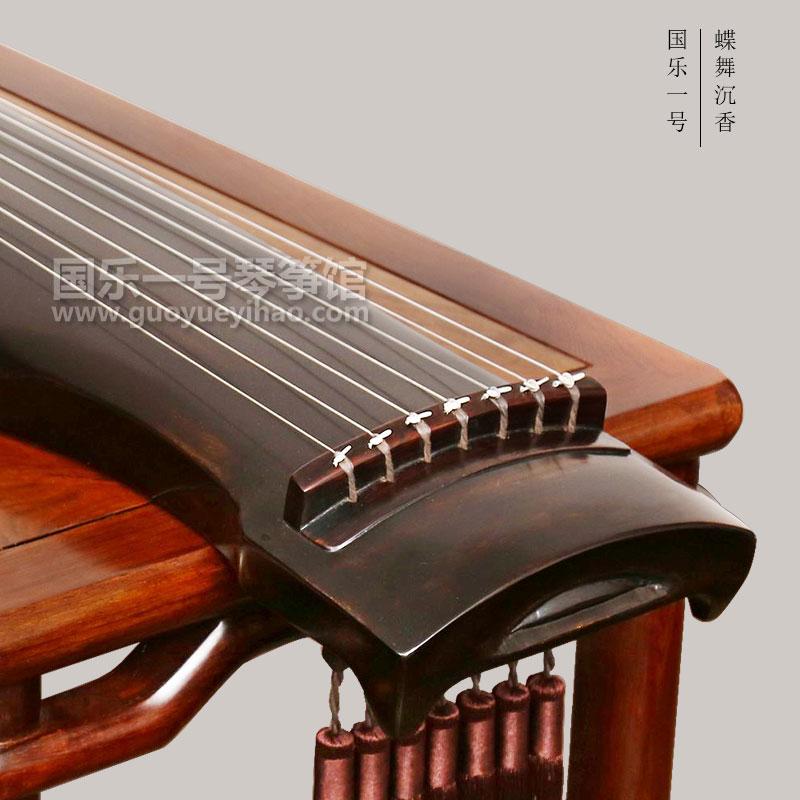 丁永贵-蝶舞沉香-黑色仲尼式古琴-国乐一号古琴专卖门店