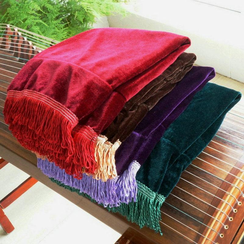 金丝绒古筝罩枣红色色防尘罩高档防尘套盖布配件人气新款